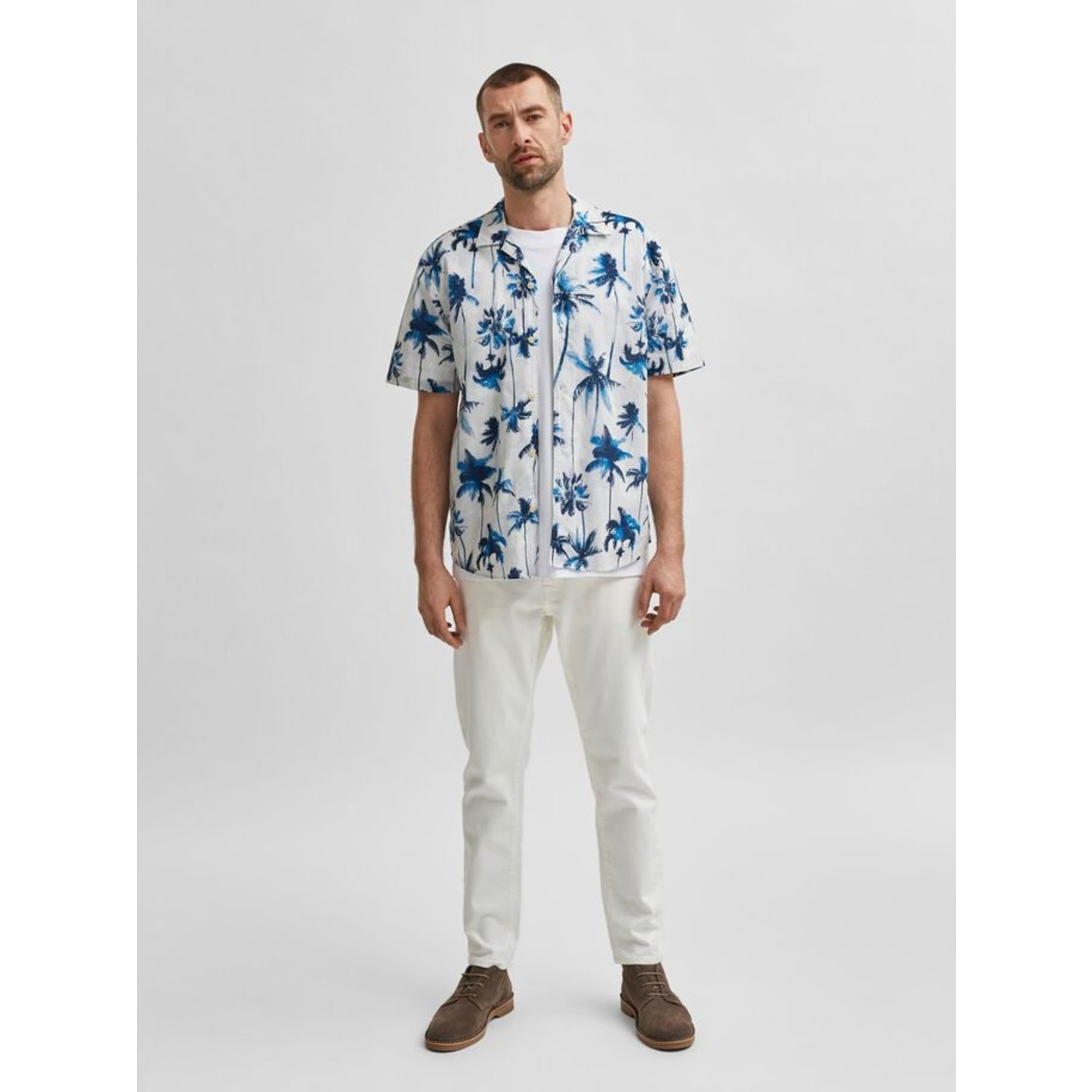 Selected Homme Selected Homme 16078346 Simon Shirt - Egret