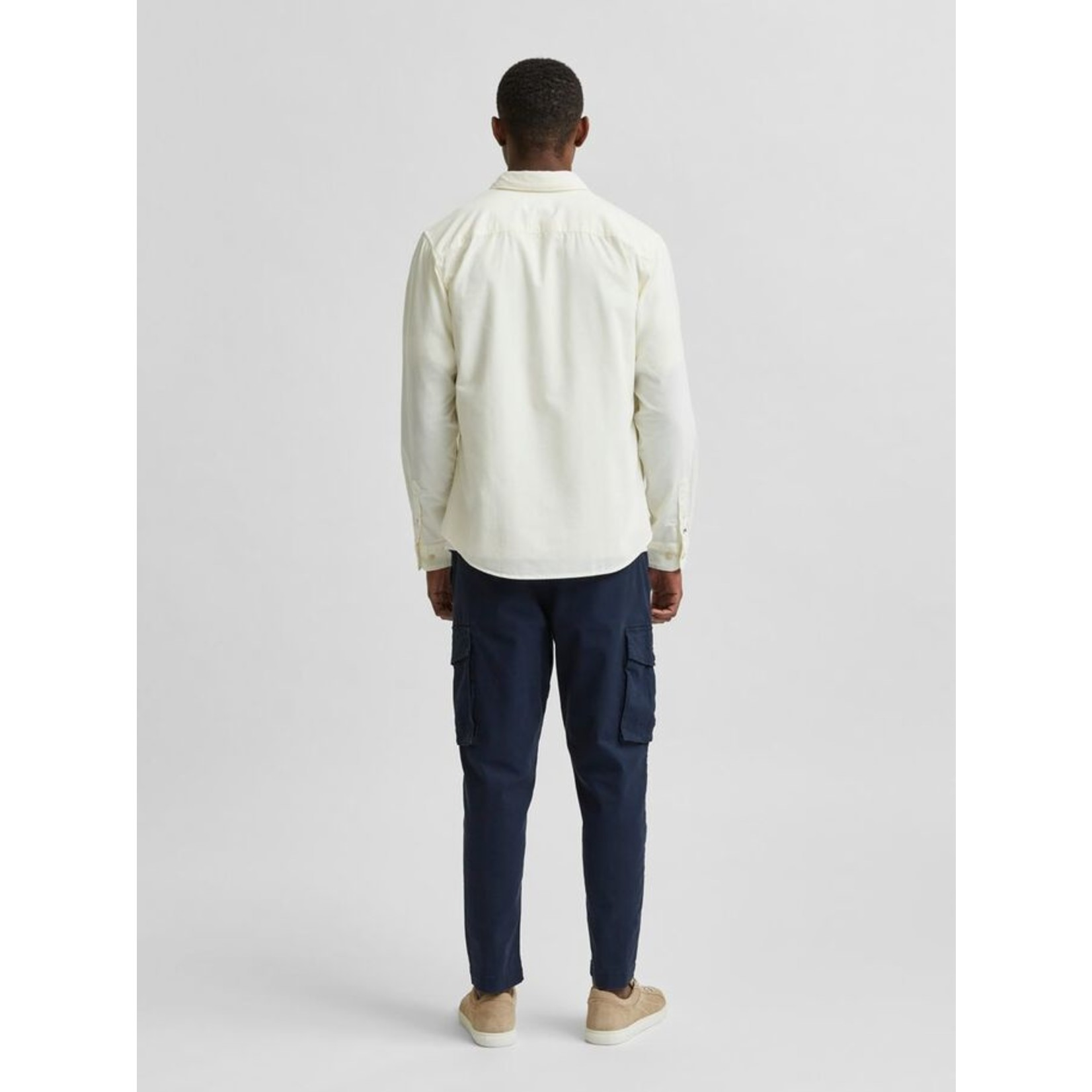 Selected Homme Selected Homme 16078330 Oscar Cord Shirt - Egret