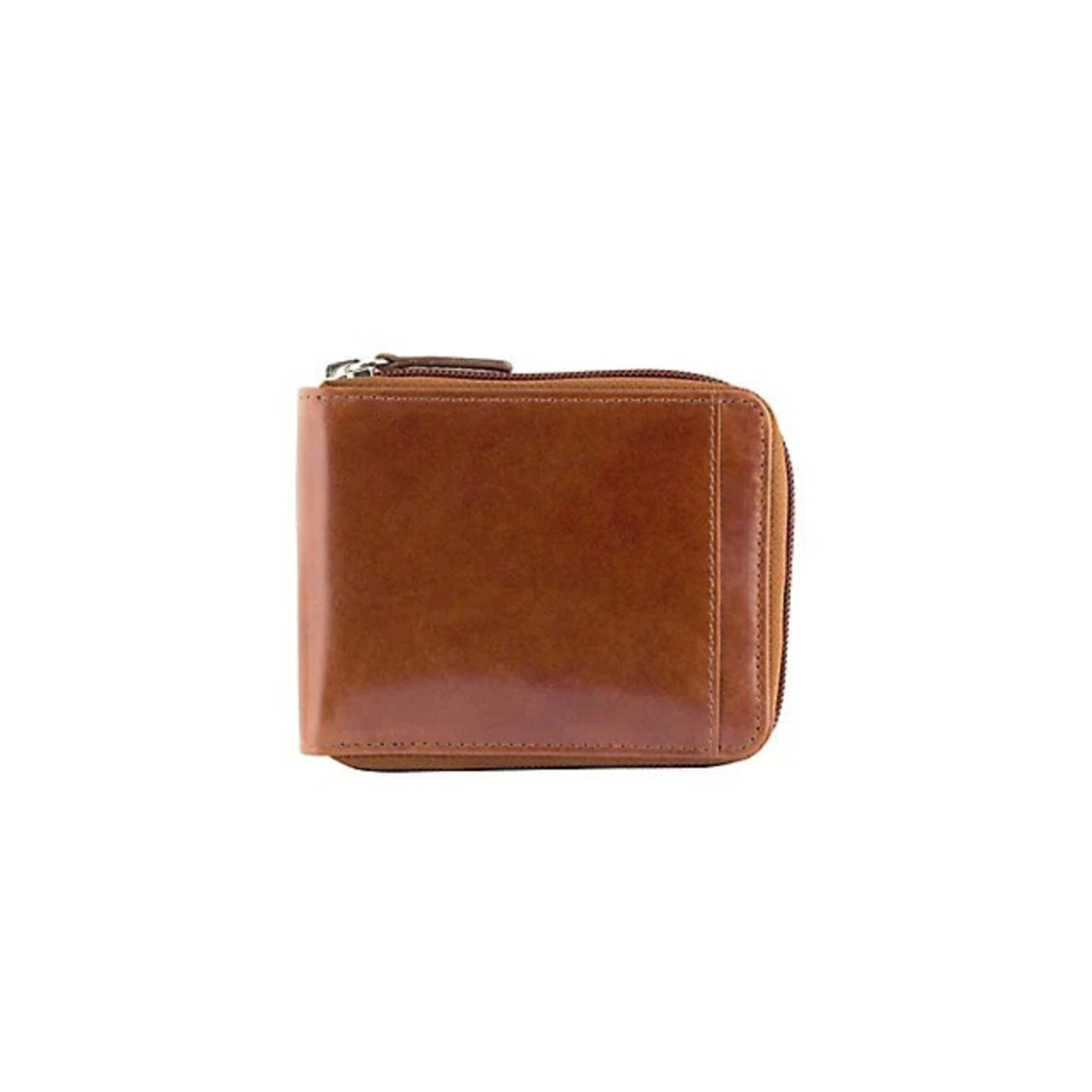Mancini Mancini 8700159 Zippered Wallet with Removable Passcase - Cognac