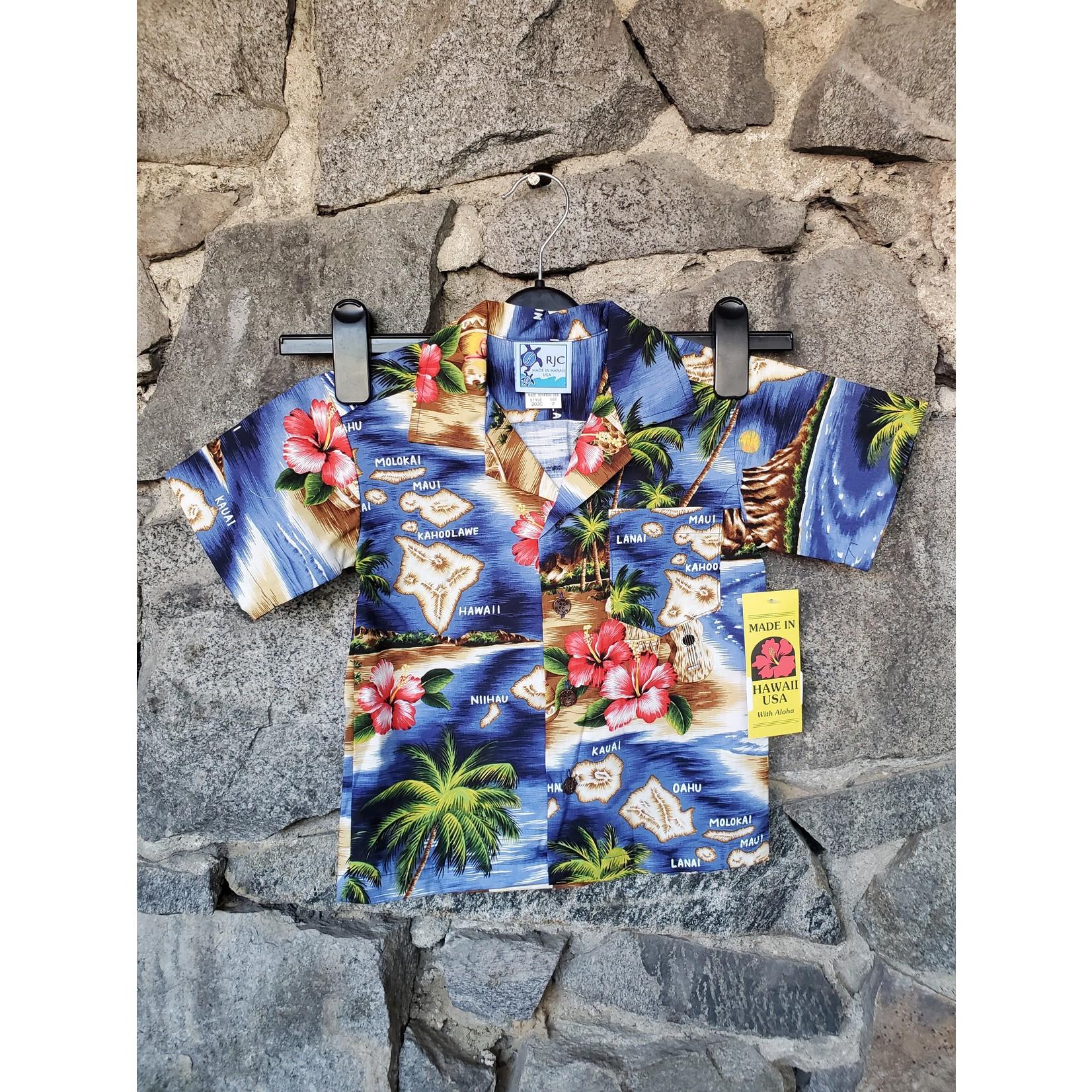 RJC YOUTH Hawaiian Shirt - Hawaiian Beach