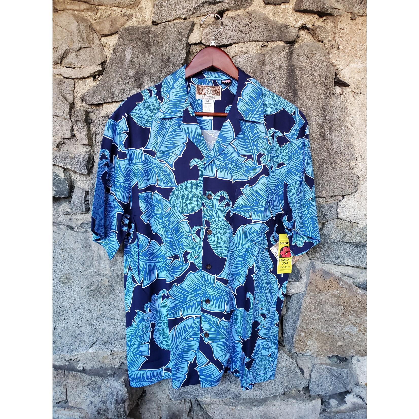 RJC Kalaheo Aloha Shirt - Blue Pineapples