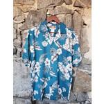 RJC Kalaheo Aloha Shirt - Greyscale Hibiscus
