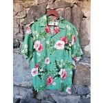 RJC Kalaheo Aloha Shirt - Sage Hibiscus