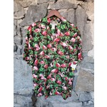 RJC Kalaheo Aloha Shirt - Foliage & Flamingos