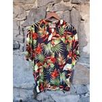 RJC Kalaheo Aloha Shirt - Black Bird of Paradise
