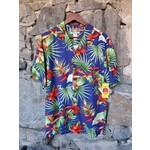 RJC Kalaheo Aloha Shirt - Blue Bird of Paradise