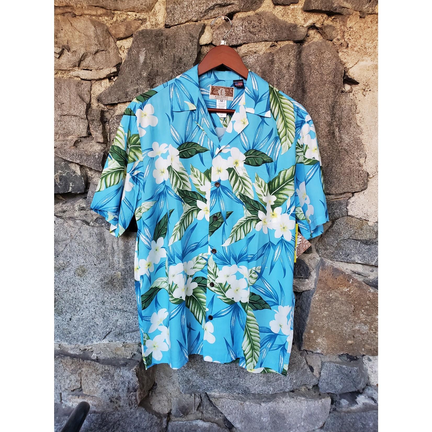 RJC Kalaheo Aloha Shirt - Turquoise Floral