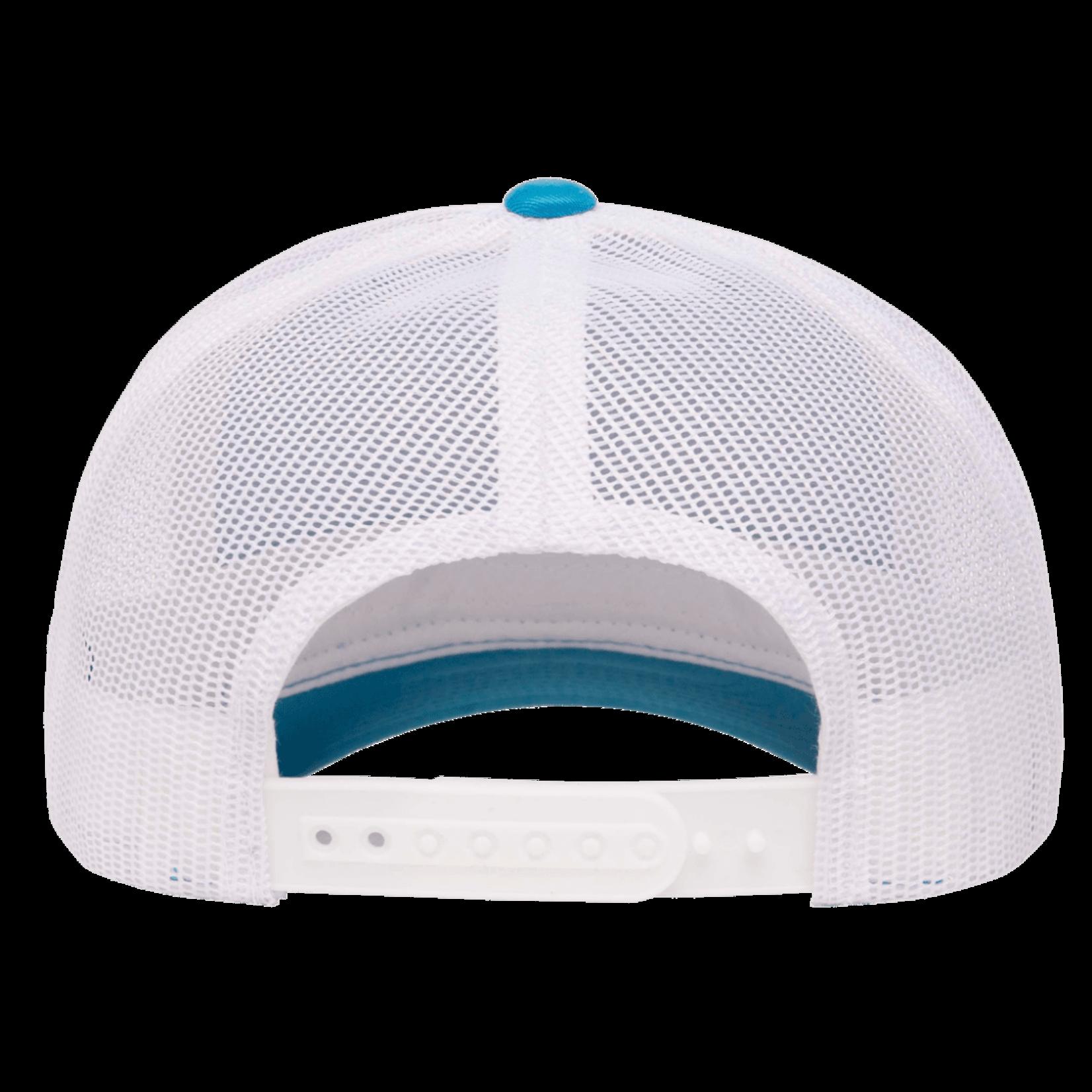 Flexfit Flexfit 6606T 2-Tone Snapback Trucker Hat - Turquoise/White