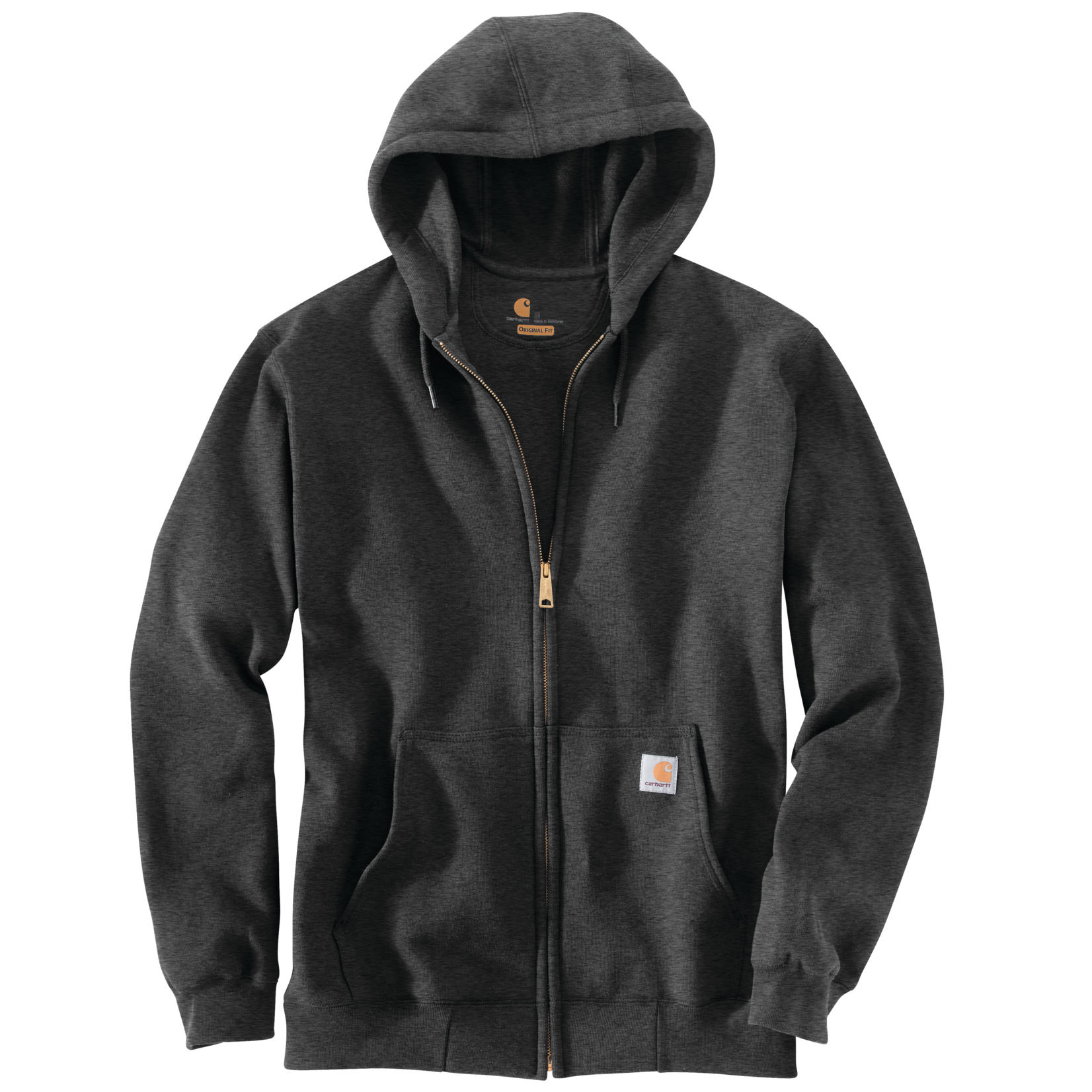Carhartt Carhartt K122 Loose-Fit Midweight Full-Zip Hooded Sweatshirt - 026 Carbon Heather