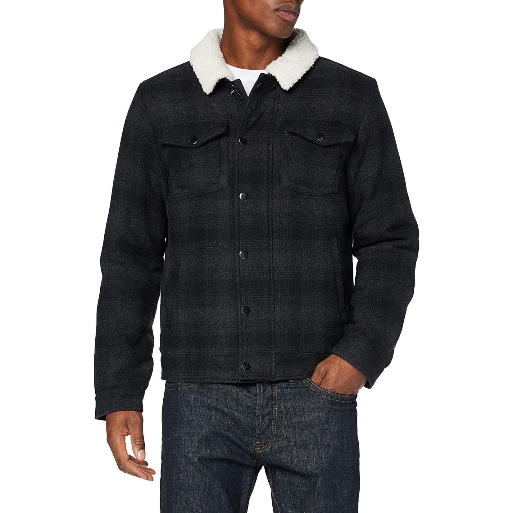 Blend Blend 20711066 Plaid Wool Jacket - Dark Navy