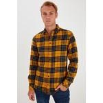 Blend Blend Plaid Shirt - Empire Yellow