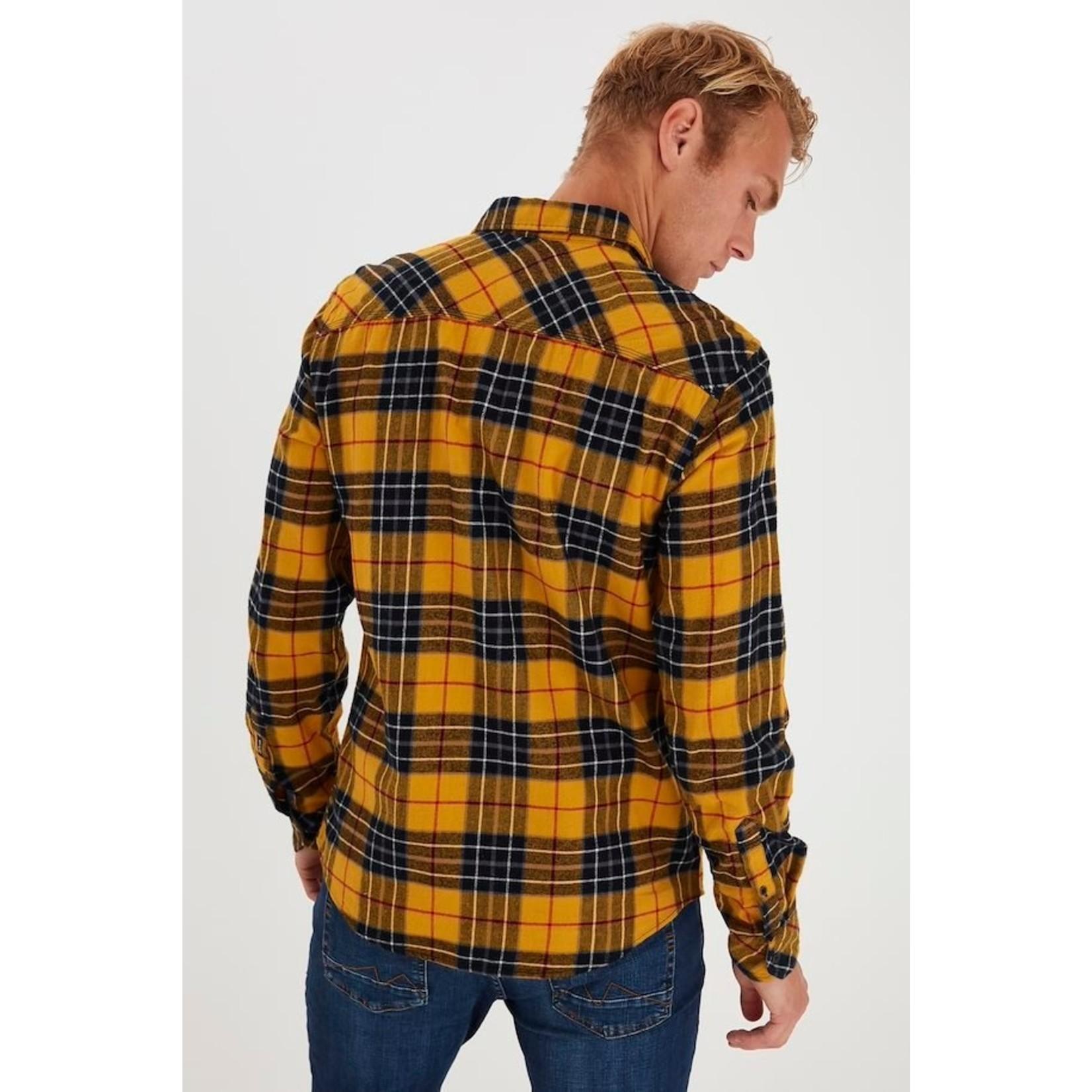 Blend Blend 20711125 Plaid Shirt - Empire Yellow