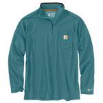 Carhartt Carhartt Quarter-Zip Long-Sleeve Tee - Blue Spruce