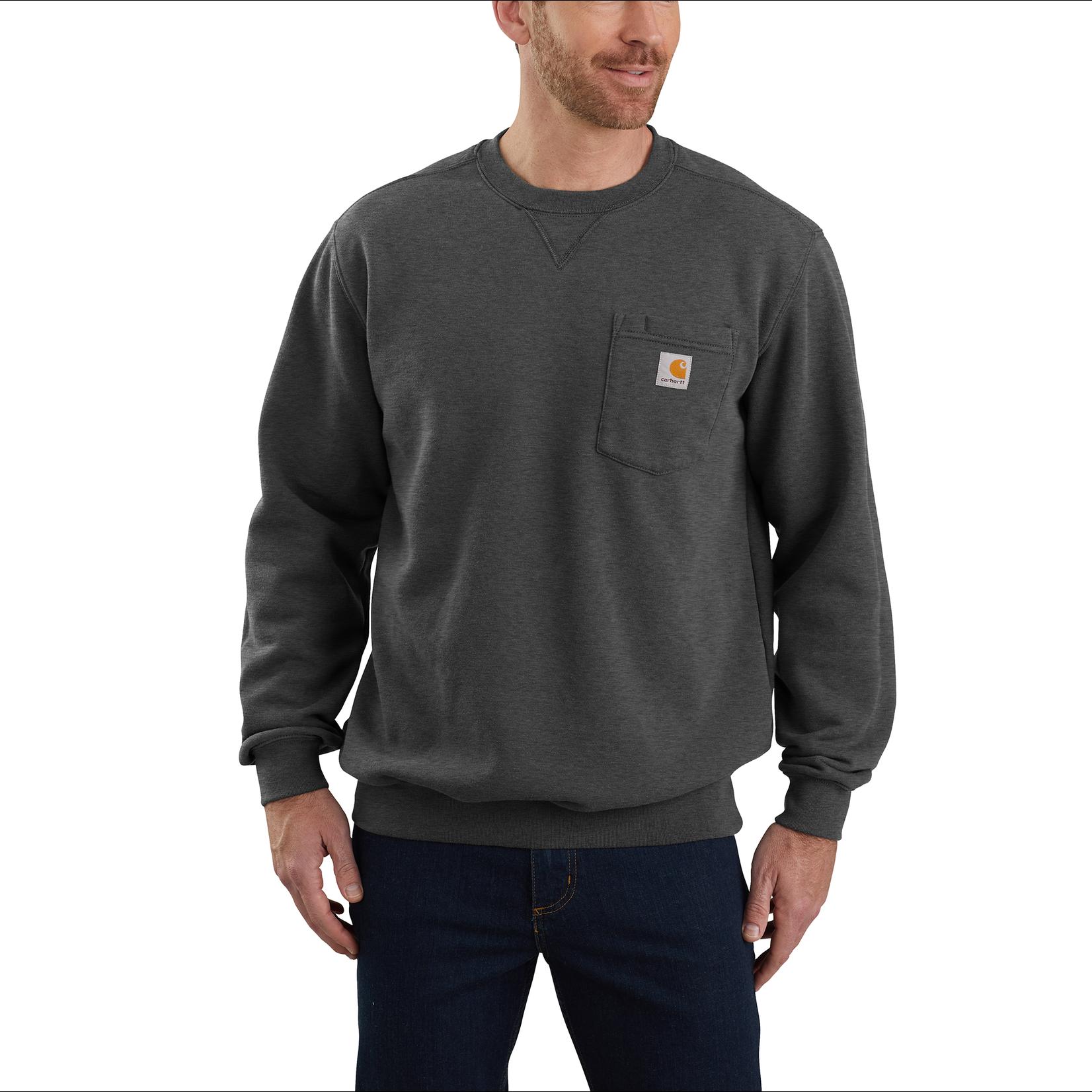 Carhartt Carhartt 103852 Pocketed Sweatshirt - Carbon Heather