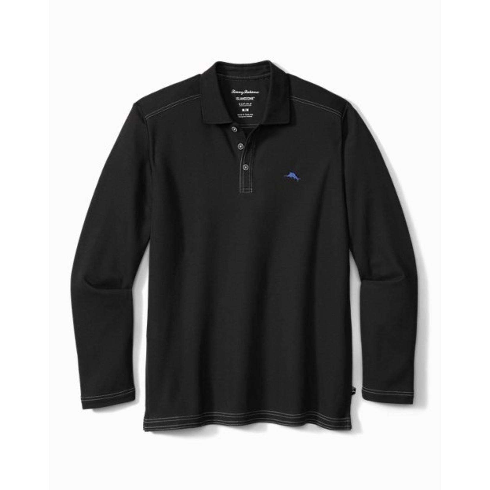 Tommy Bahama Tommy Bahama ST225517 Long-Sleeve Emfielder 2.0 Polo - 023 Black