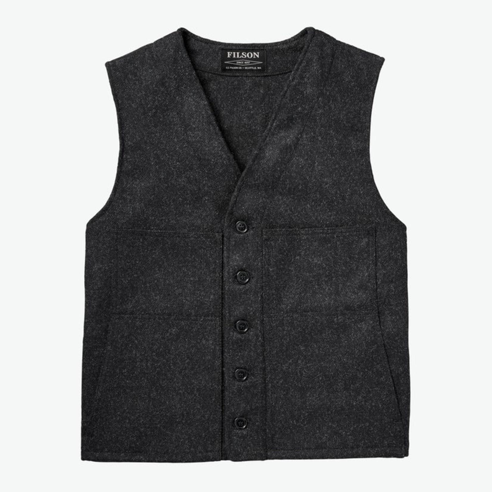 Filson Filson 11010055 Mackinaw Wool Vest - Charcoal
