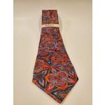 Serica Printed Silk Tie - Large Red Floral