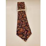 Serica Printed Wool/ Silk Tie - Burgundy Paisley
