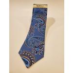 Serica Printed Silk Tie - Blue Oversize Paisley