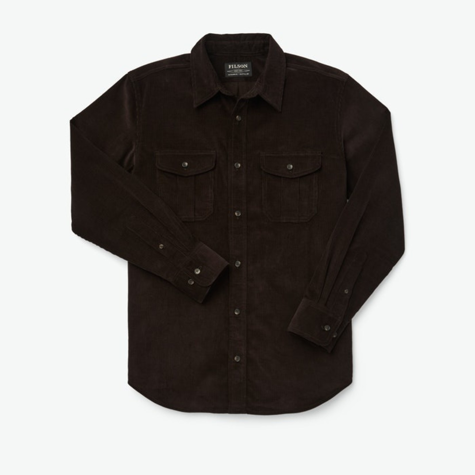 Filson Filson 20222928 12-Wale Corduroy Shirt Bison Brown
