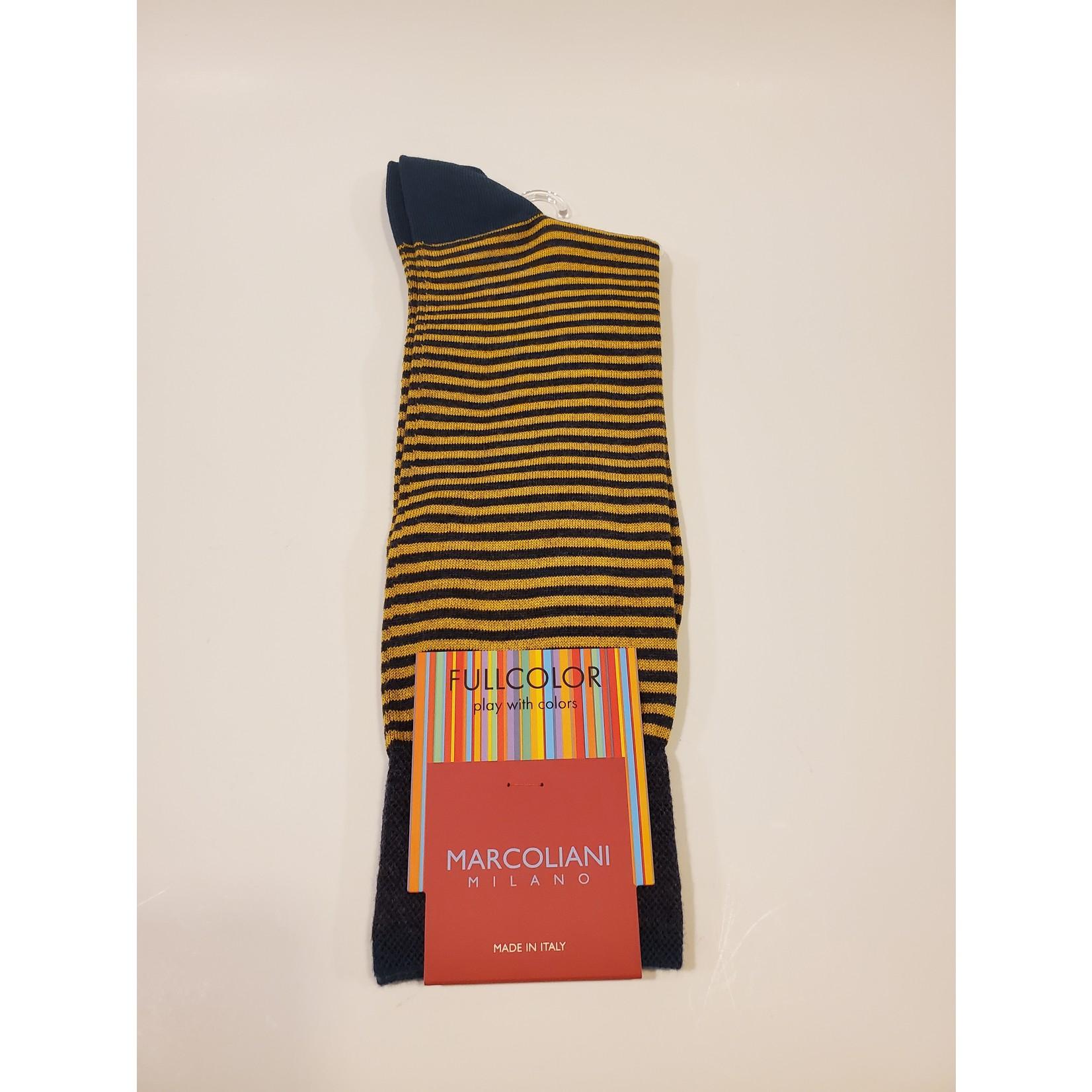 Marcoliani Marcoliani Full Color MAR3231T Palio Stripe - 330 Denim Yellow