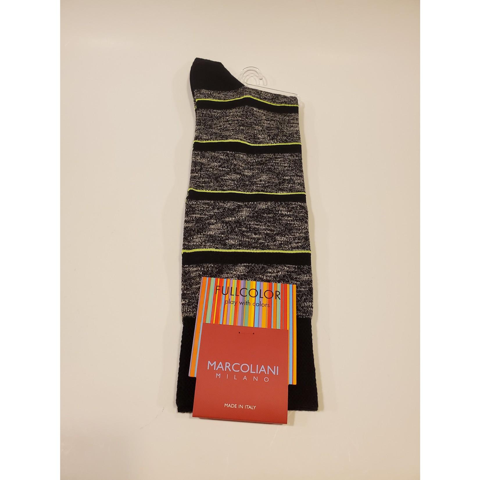 Marcoliani Marcoliani Full Color MAR4528T Fluo Stripe - 122 Black Marl