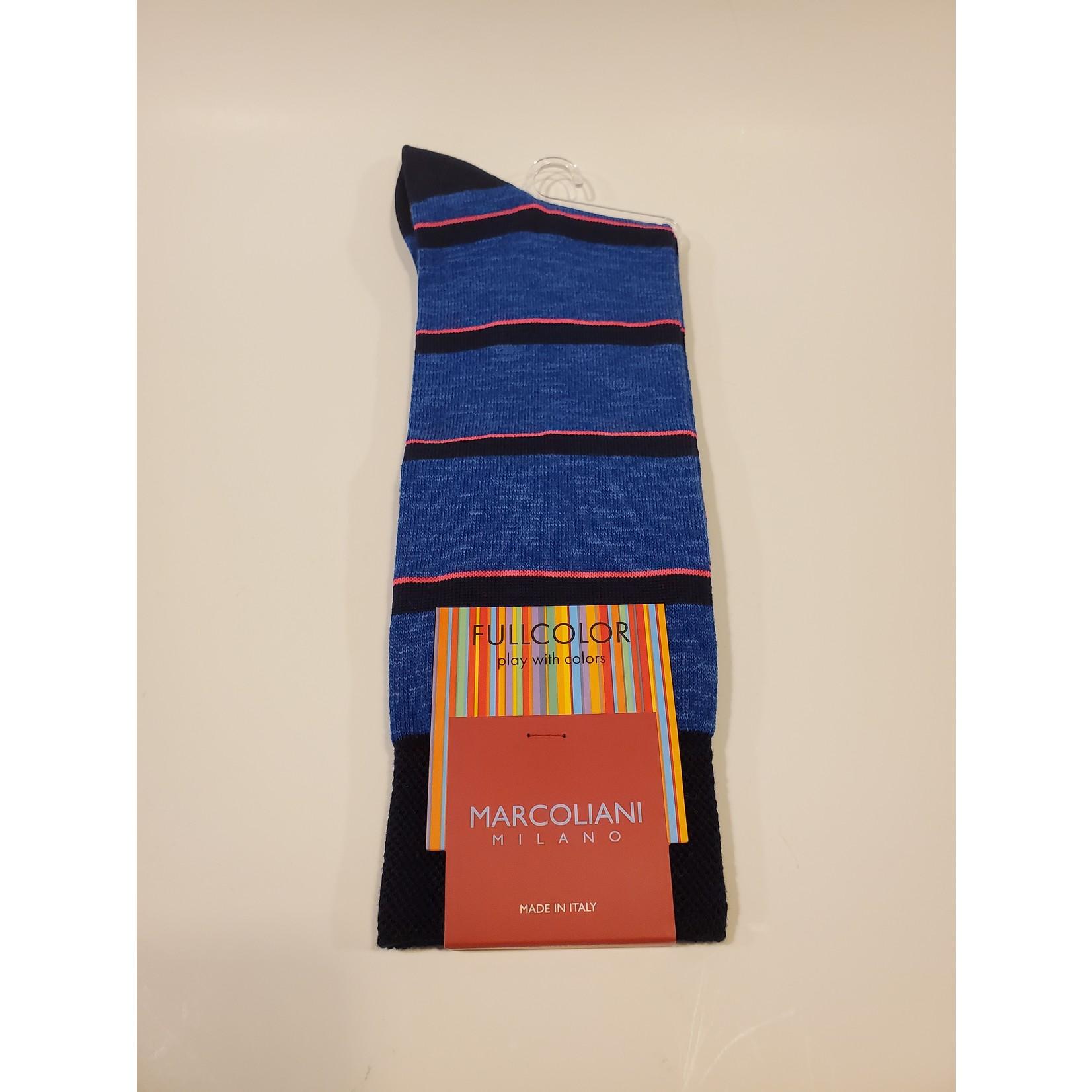 Marcoliani Marcoliani Full Color MAR4528T Fluo Stripe - 241 Atlantis Blue