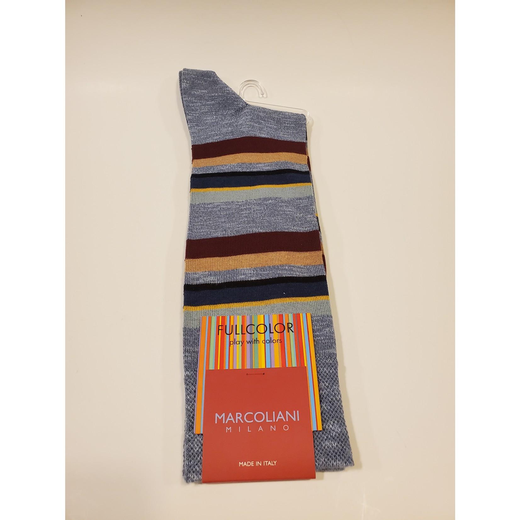 Marcoliani Marcoliani Full Color MAR4522T Eclectic Stripe - 102 Light Blue Denim