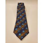 Montebello Jacquard Silk Tie - Blue Floral Pattern