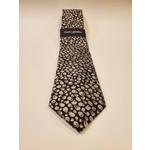 Montebello Jacquard Silk Tie - White Micro Skulls