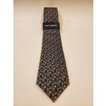 Montebello Jacquard Silk Tie - Green Micro Floral Pattern