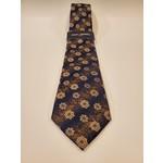 Montebello Jacquard Silk Tie - Beige Floral Pattern