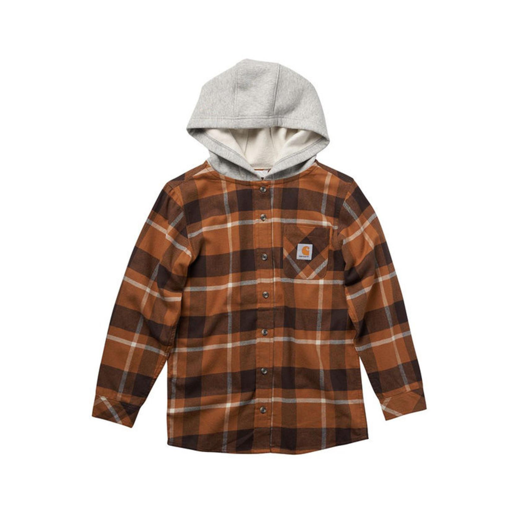 Carhartt Carhartt Kids CE8187 Hooded Flannel Shirt