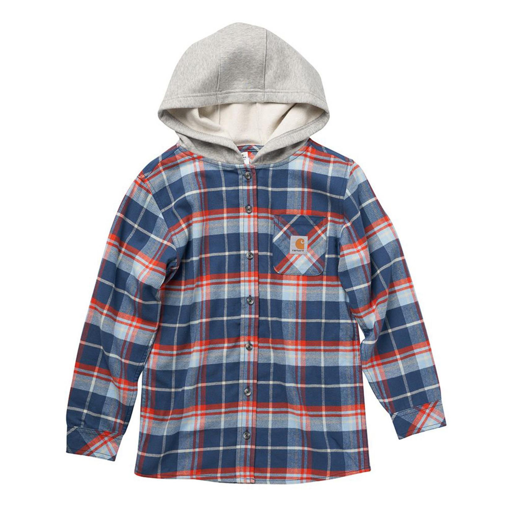 Carhartt Carhartt Boy's CE8187 Hooded Flannel Shirt