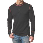 Stanfields Stanfields 1335 Heritage 2-Layer Henley - Black/Red