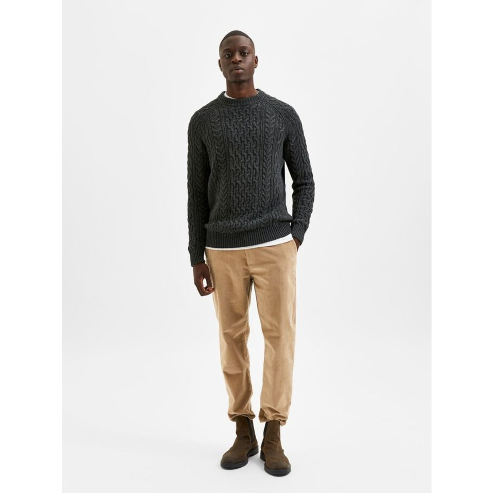 Selected Homme Selected Homme 16081163 Victor Cable Knit Sweater