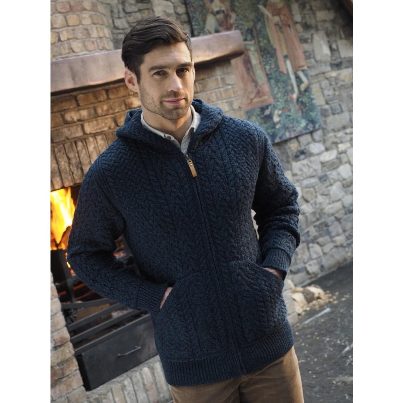 Aran Crafts Aran Crafts HD4821 Limrick Wool Hoody