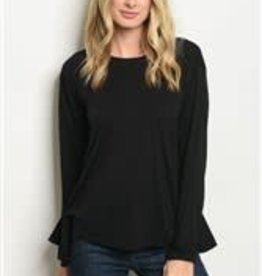Loveriche Black Side Tied Top