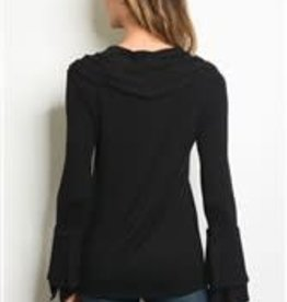 Les Amis Black Cowl w/Bell Sleeves