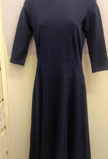KMW Navy a-line dress with seamed waistline