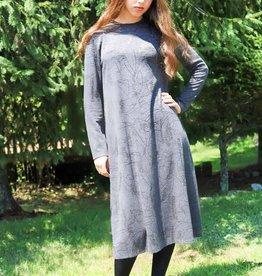 Ivee Sparkle leaf gray dress