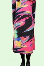 Genux Fuschia multi swirl dress w/ smock neckline