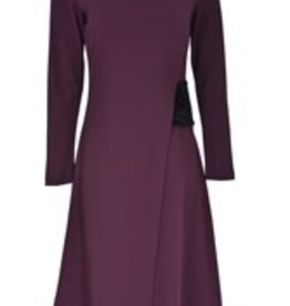 Ruby Lara Wine faux wrap size S