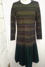 Tweed Paula - dropwaist multi top/green bottom