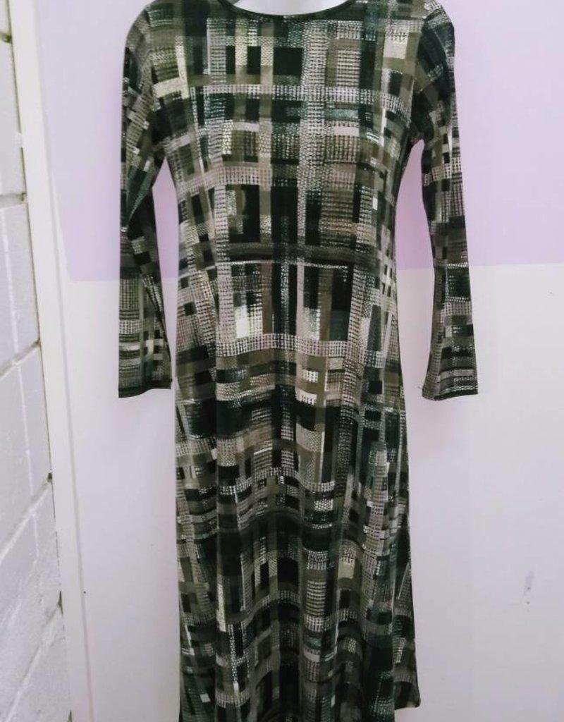 KMW Grey/taupe print tunic dress