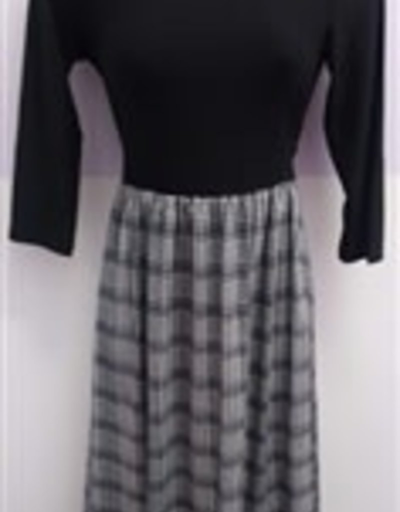 Chi Chi Blk top w/houndstooth btm dress