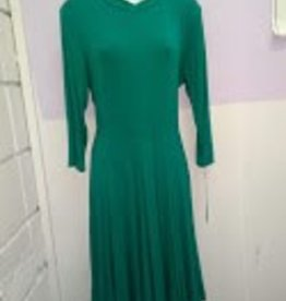 Chi Chi Green jersey dress w/panel skirt