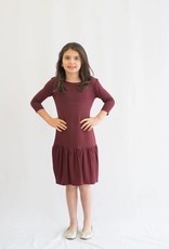 KMW Drop Waist Ruffle Dress