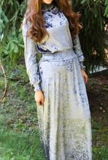 Ivee Maxi crushed velvet, waisted dress/shabbos robe