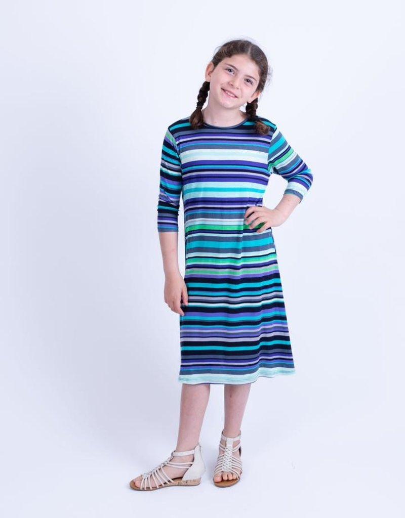 KMW Girls striped tunic dress